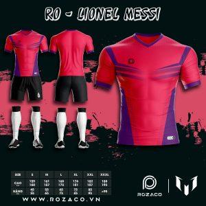 Áo bóng đá không logo 2021 màu hồng HZ 747