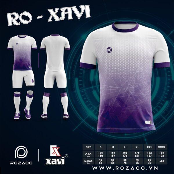 Áo bóng đá không logo đơn giản màu tím HZ 748
