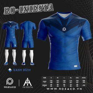 Quần áo bóng đá không logo màu xanh đen HZ 752 đẹp