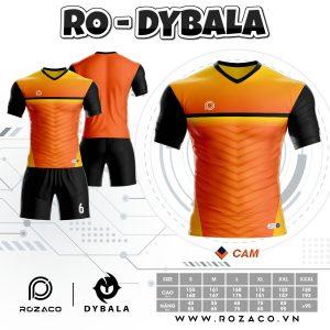 Áo đấu bóng đá không logo thiết kế HZ 770 màu cam