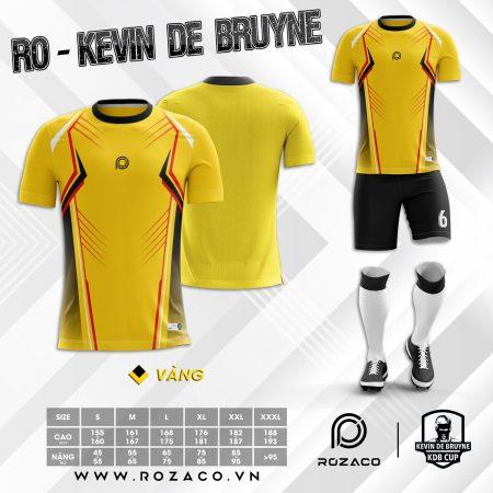 Áo Bóng Đá K Logo Cổ Tròn Màu Vàng Kevin Đẹp
