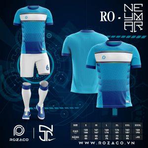 Áo Đá Banh Không Logo Neymar Màu Xanh Da Trời