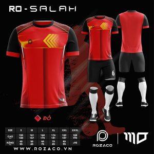áo đá banh không logo Salah màu đỏ HZ 772