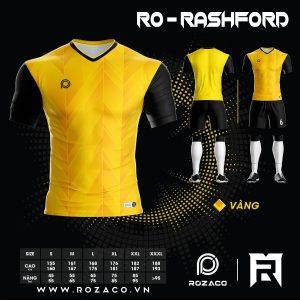 Áo Đấu Bóng Đá Không Logo Đẹp Rashford Màu Vàng