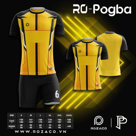 Áo bóng đá không logo chế màu vàng Pogba