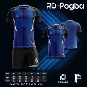 Áo bóng đá không logo Pogba màu xanh bích HZ 731
