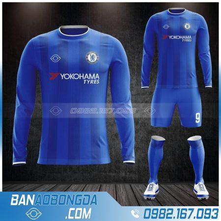 Áo Chelsea dài tay đẹp màu xanh dương
