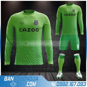 Áo bóng đá câu lạc bộ Everton dài tay màu xanh lá