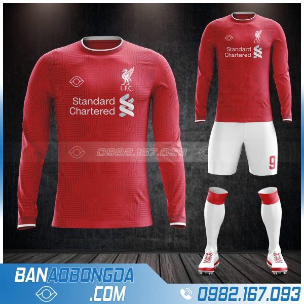 Áo Liverpool dài tay đẹp mắt nhất 2021 màu đỏ