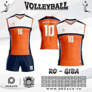 Áo bóng chuyền nam nữ màu cam mới nhất