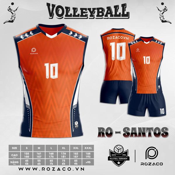 quần áo bóng chuyền màu cam xịn