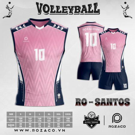 Áo bóng chuyền nam 2021 rẻ đẹp màu hồng
