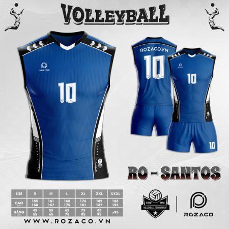 áo bóng chuyền 2021 màu xanh dương cực đẹp