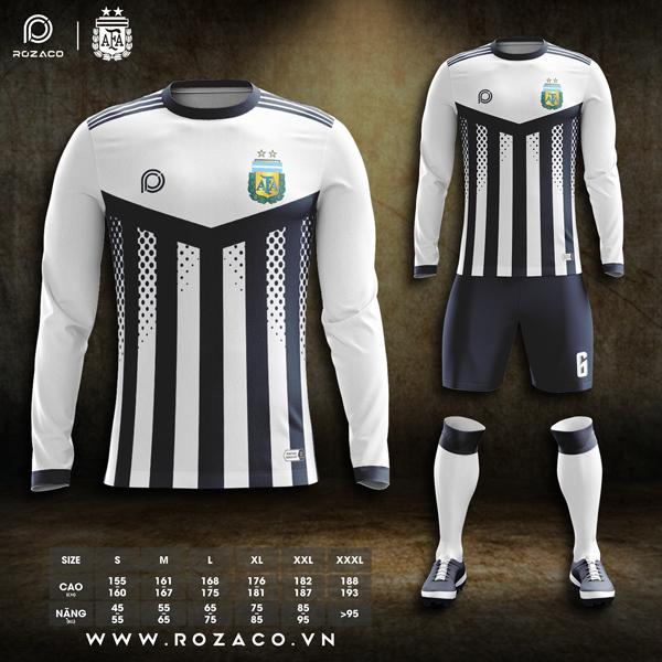 Áo bóng đá Argentina dài tay đẹp và độc