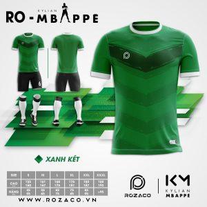Quần áo bóng đá không logo màu xanh lá đẹp