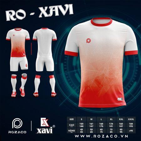 Áo đá bóng không logo màu trắng đỏ