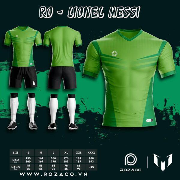 Quần áo bóng đá không logo 2021 màu xanh lá