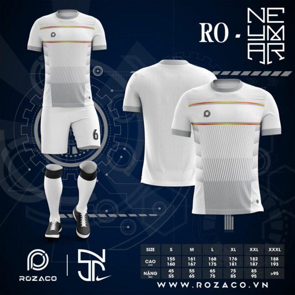 Quần Áo Đá Bóng K Logo Đẹp Màu Trắng Neymar