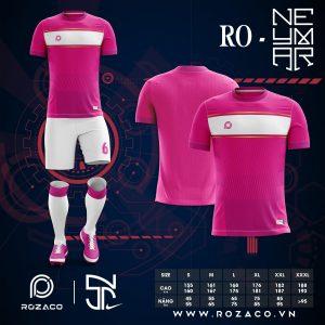 Áo đấu bóng đá không logo Neymar màu hồng