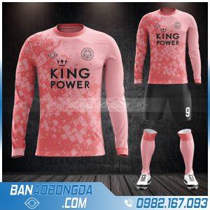 Áo bóng đá leicester City dài tay màu hồng đẹp