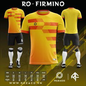 Bộ quần áo bóng đá không logo màu vàng đẹp