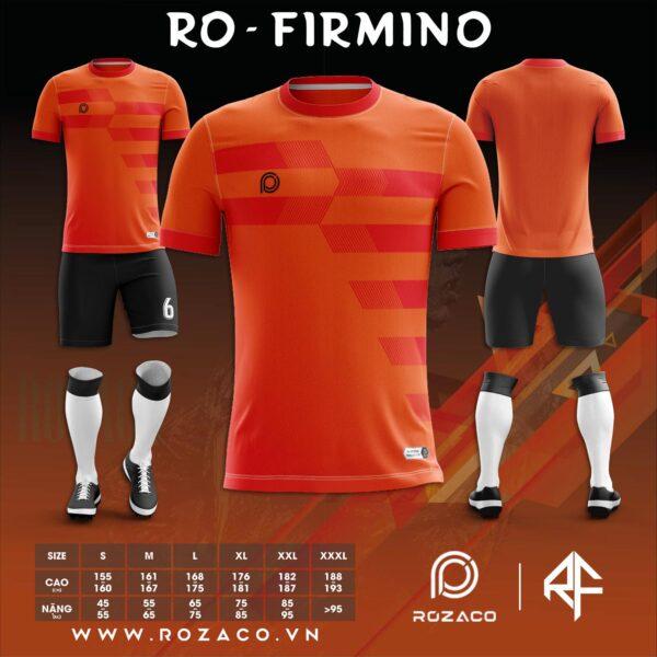 Áo bóng đá không logo màu cam mới nhất