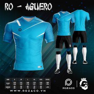 Mẫu quần áo bóng đá không logo màu xanh da trời