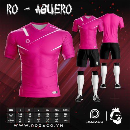Áo bóng đá không logo thiết kế màu hồng