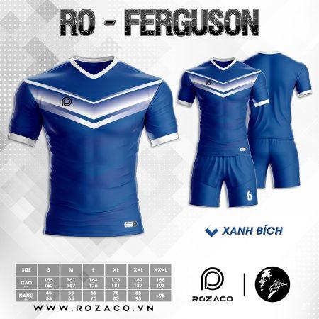 Áo Đá Banh K Logo Ferguson Màu Xanh Dương Đẹp