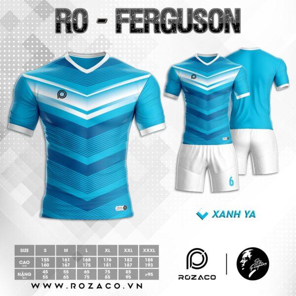 Áo đá bóng không logo cao cấp màu xanh da trời