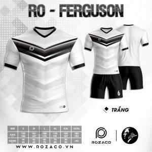 Áo Đá Bóng Không Logo Xịn Ferguson Màu Trắng