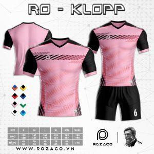 Bộ quần áo bóng đá không logo màu hồng đẹp