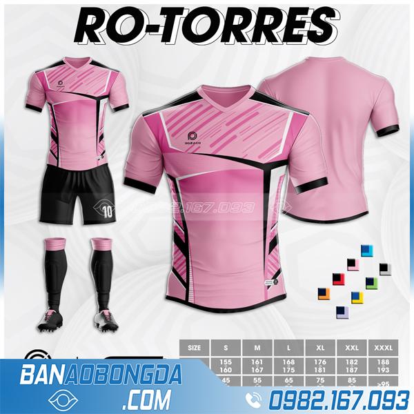Áo bóng đá không logo màu hồng đẹp Ro - Tores