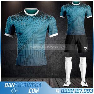 Mẫu áo bóng đá không logo màu xanh lý