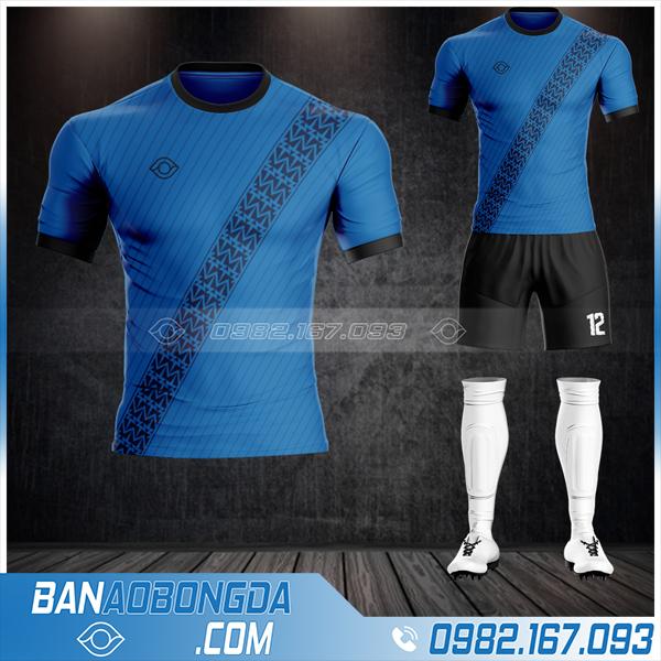 Áo bóng đá không logo 2021 màu xanh dương đẹp