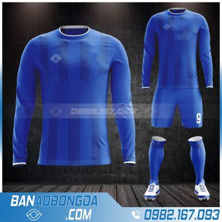Mẫu áo thể thao dài tay màu xanh dương đẹp