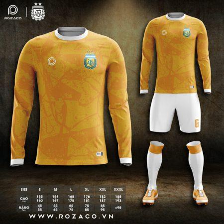 áo bóng đá Argentina màu vàng đẹp