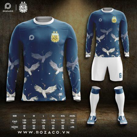 áo Argentina dài tay tự thiết kế đẹp
