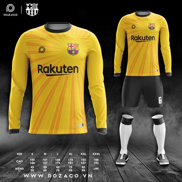 áo Barca dài tay màu vàng