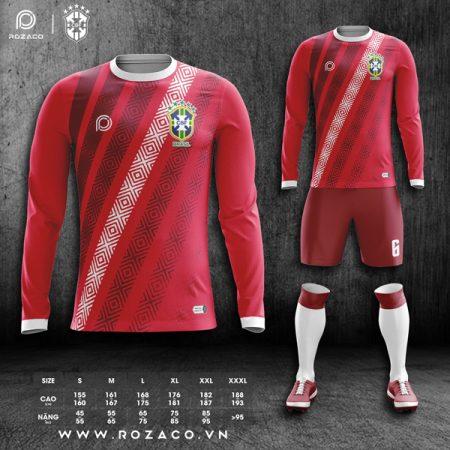 Áo bóng đá Brazil màu đỏ đẹp