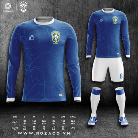 Áo đội tuyển Brazil dài tay màu xanh dương