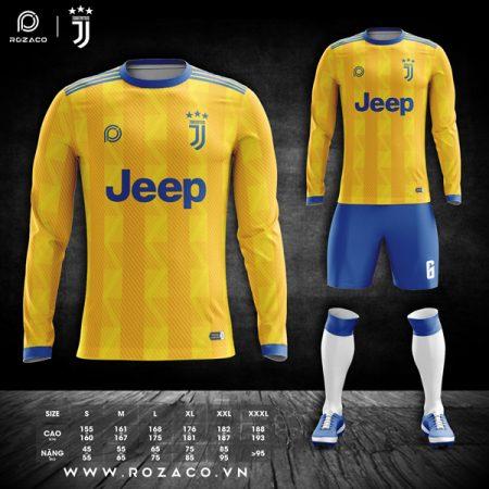 áo bóng đá câu lạc bộ Juventus dài tay màu vàng