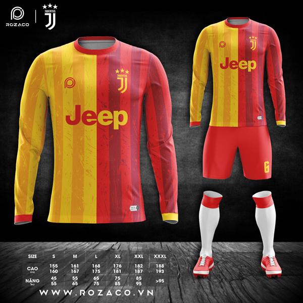 Mẫu áo Juventus dài tay giá rẻ đẹp