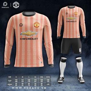 áo bóng đá clb MU dài tay màu camđẹp