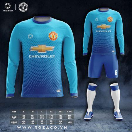 áo đấu MU dt màu xanh da trời