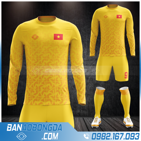 quần áo đt Việt Nam dài tay màu vàng