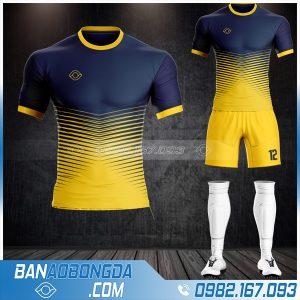 Áo đá bóng không logo màu tím than HZ 12