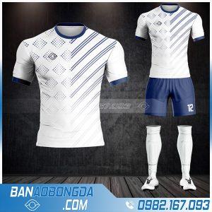 Áo bóng đá không logo cao cấp màu trắng