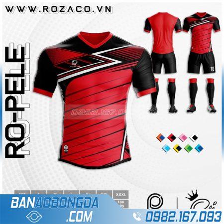 Áo bóng đá không logo đuôi tôm màu đỏ đẹp