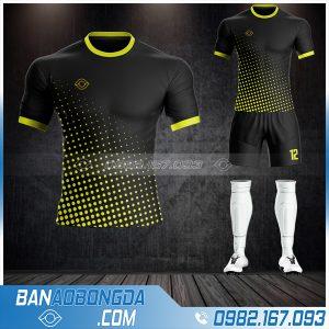 Mẫu áo đá bóng không logo màu đen giá rẻ